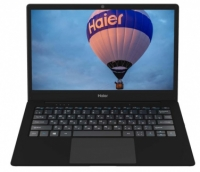 Ноутбук Haier A914 CDC N3350 4Gb eMMC 64Gb Intel HD Graphics 500 13,3 FHD IPS BT Cam 35.52Вт*ч Win10 Черный TD0030550RU